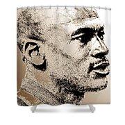 Michael Jordan In 1990 Shower Curtain by J McCombie
