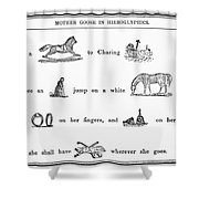 MOTHER GOOSE, 1849 Shower Curtain by Granger