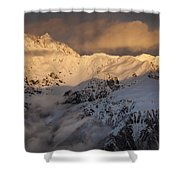 Mount Rolleston At Dawn Arthurs Pass Np Shower Curtain by Colin Monteath
