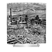 Nagasaki, 1945 Shower Curtain by Photo Researchers