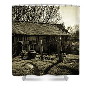 Old Fashioned Shed Shower Curtain by Dawn OConnor