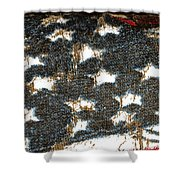 Old Glory Shower Curtain by Bill Owen