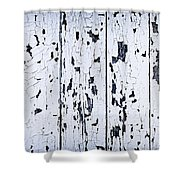 Old Painted Wood Abstract Shower Curtain by Elena Elisseeva