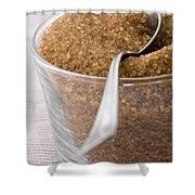Organic Raw Cane Sugar Shower Curtain by Frank Tschakert