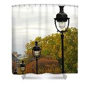 Paris Street Shower Curtain by Elena Elisseeva