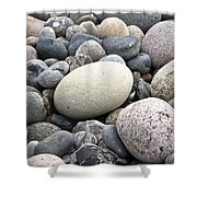 Pebbles Shower Curtain by Frank Tschakert