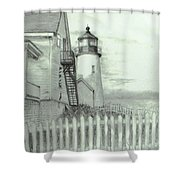 Pemaquid lighthouse  Shower Curtain by Jack Skinner