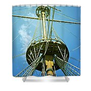 Pirate Ship Shower Curtain by Joana Kruse