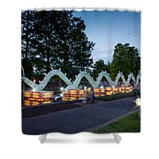 Porcelain Dragon Shower Curtain by Semmick Photo