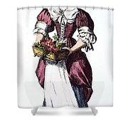 Quaker Woman 17th Century Shower Curtain by Granger