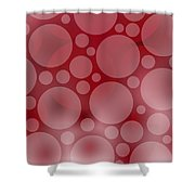 Red Abstract Circles Shower Curtain by Frank Tschakert