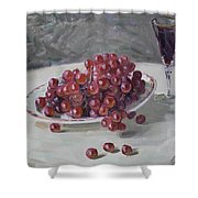 Red Grapes Shower Curtain by Ylli Haruni