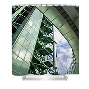 Refinery Detail Shower Curtain by Carlos Caetano