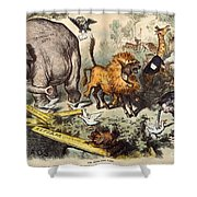 Republican Elephant, 1874 Shower Curtain by Granger