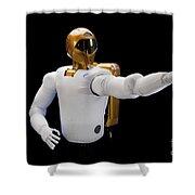 Robonaut 2, A Dexterous, Humanoid Shower Curtain by Stocktrek Images