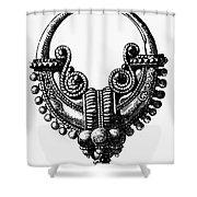 Rome: Gold Earring Shower Curtain by Granger