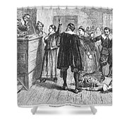 Salem Witch Trials, 1692 Shower Curtain by Granger