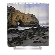 Sea Arch At Pfeiffer Beach Big Sur Shower Curtain by Tim Fitzharris