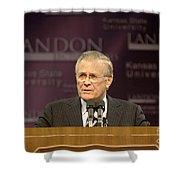 Secretary Of Defense Donald H. Rumsfeld Shower Curtain by Stocktrek Images