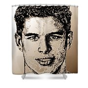 Sidney Crosby In 2007 Shower Curtain by J McCombie