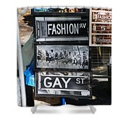 Signs Of New York Shower Curtain by Rob Hans