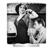 SILENT FILM STILL: SEWING Shower Curtain by Granger