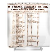 Slave Auction Notice Shower Curtain by Photo Researchers, Inc.