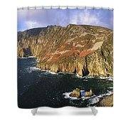 Slieve League, Co Donegal, Ireland Shower Curtain by The Irish Image Collection