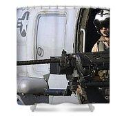 Soldier Mans A .50 Caliber Machine Gun Shower Curtain by Stocktrek Images