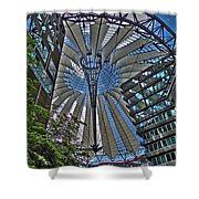 Sony Center - Berlin Shower Curtain by Juergen Weiss