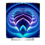 Spiral-3 Shower Curtain by Klara Acel