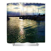 Stormy Skies Shower Curtain by Cheryl Young