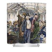 STREETCAR, 1876 Shower Curtain by Granger