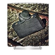 Suitcase And Hats Shower Curtain by Joana Kruse