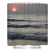 Sunrise Over Arabian Sea Hawf Protected Shower Curtain by Sebastian Kennerknecht