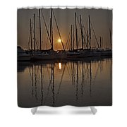 Sunset Shower Curtain by Joana Kruse