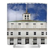 Supreme Court of California . County of Alameda . Oakland California View From Oakland Museum . 7D13 Shower Curtain by Wingsdomain Art and Photography