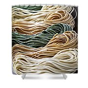 Tagliolini Pasta Shower Curtain by Elena Elisseeva