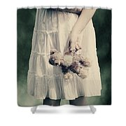 Teddy Bear Shower Curtain by Joana Kruse
