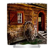 The Blacksmith Shop Shower Curtain by David Patterson