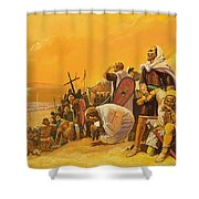 The Crusades Shower Curtain by Gerry Embleton