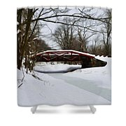 The Delaware Canal At Washington's Crossing Shower Curtain by Bill Cannon
