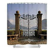 The gateway to Lago di Lugano Shower Curtain by Joana Kruse