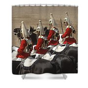 The Household Cavalry Performs Shower Curtain by Andrew Chittock