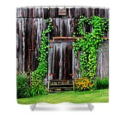 The Old Shed Shower Curtain by Perry Webster
