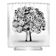 Tree Of Industrial Shower Curtain by Setsiri Silapasuwanchai