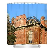 UC Berkeley . South Hall . Oldest Building At UC Berkeley . Built 1873 . The Campanile in The Back Shower Curtain by Wingsdomain Art and Photography