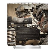 U.s. Army Rangers In Afghanistan Combat Shower Curtain by Tom Weber