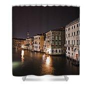 Venice By Night Shower Curtain by Joana Kruse