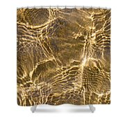 Water and sand ripples Shower Curtain by Elena Elisseeva